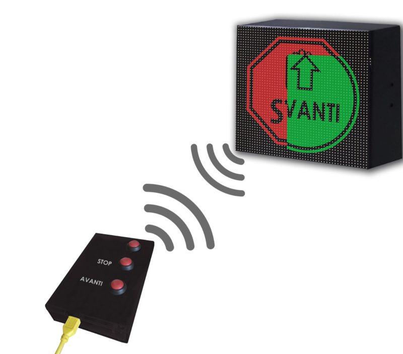 Dispositivo Controllo Accessi Manuale Display 32×32 WiFi