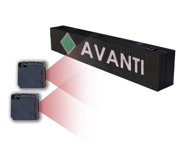 Dispositivo Controllo Accessi Automatico Display 64×16 WiFi + 2 Sensori