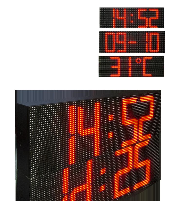 Time Date Temperature LED Display