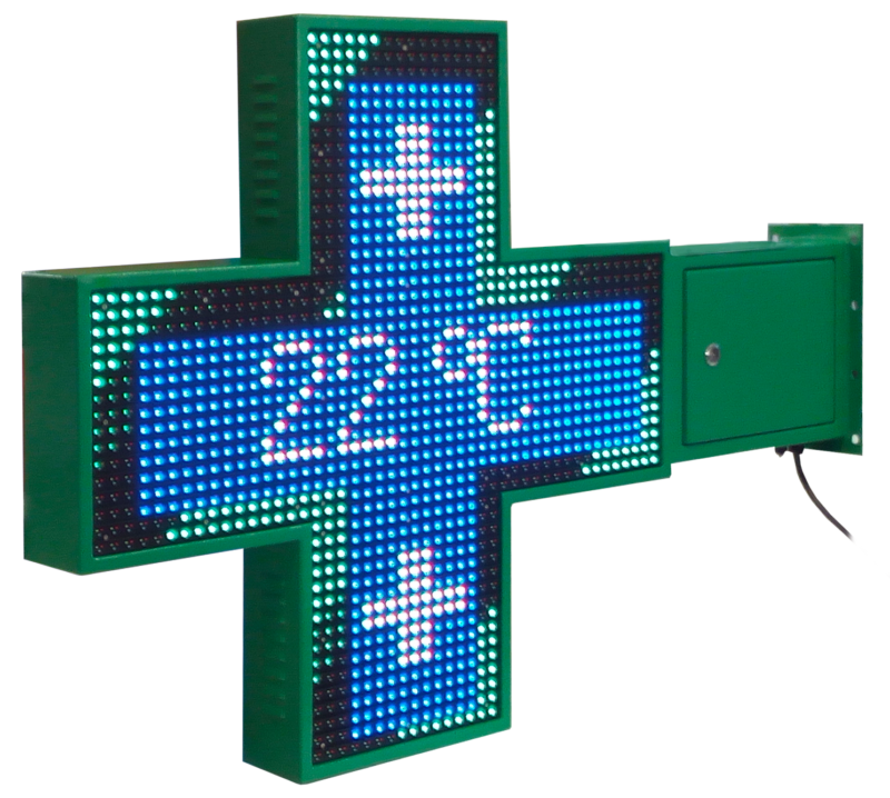 Croce Farmacia LED Full Color
