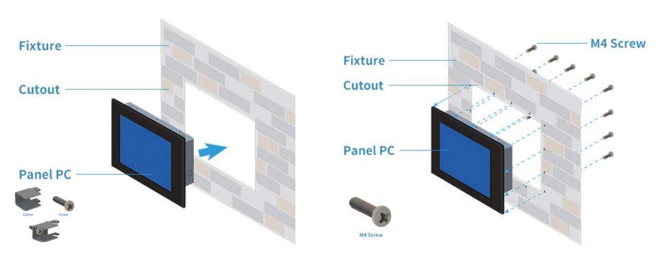 monitor panel mount